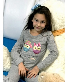 "KIDS HOME WEAR SET ""OWLS"""