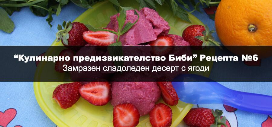 Замразен сладоледен десерт с ягоди